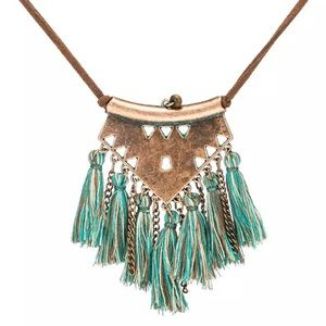 Fringe boho necklace